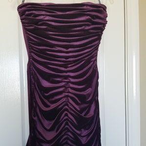 Jessica McClintock Velvet Strapless Formal Dress